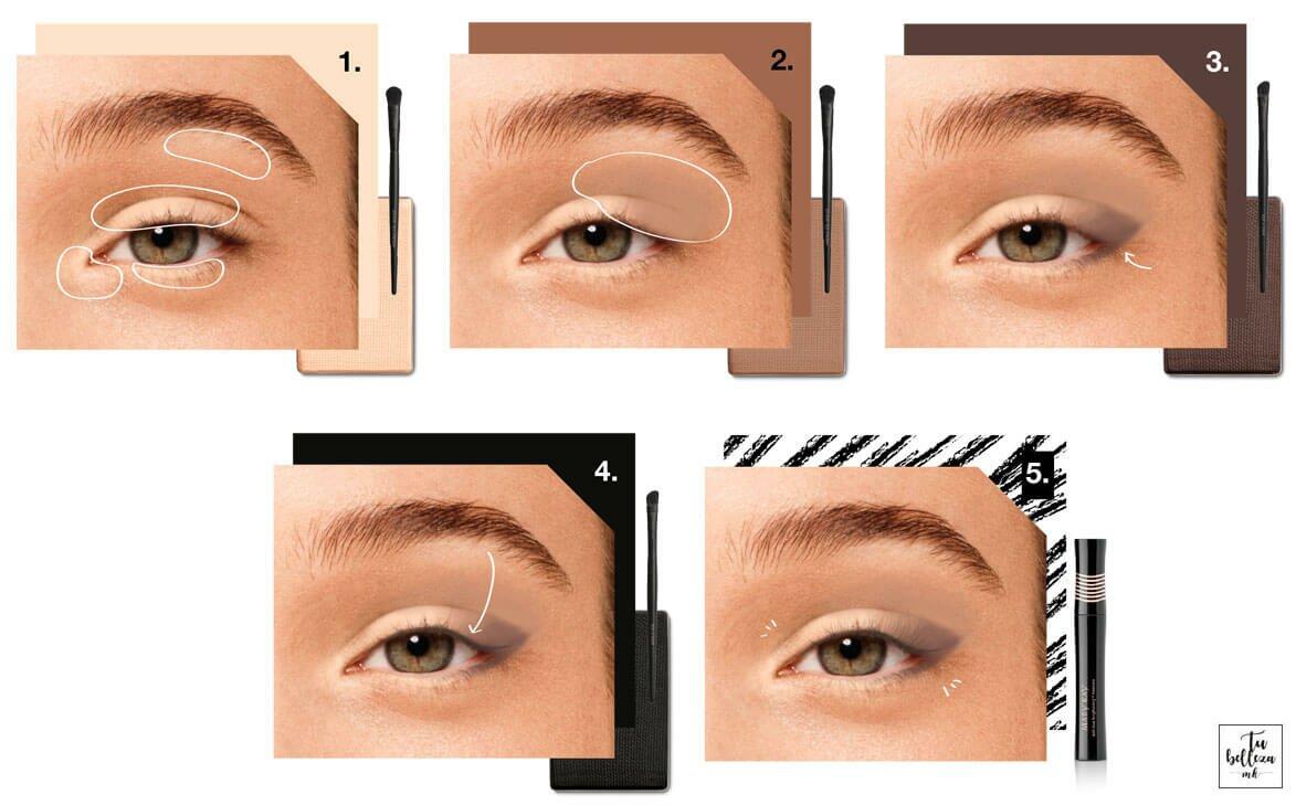 Maquillaje profesional neutro para un look de tendencia primavera / verano este 2018