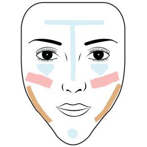 Contornear una cara en forma de diamante