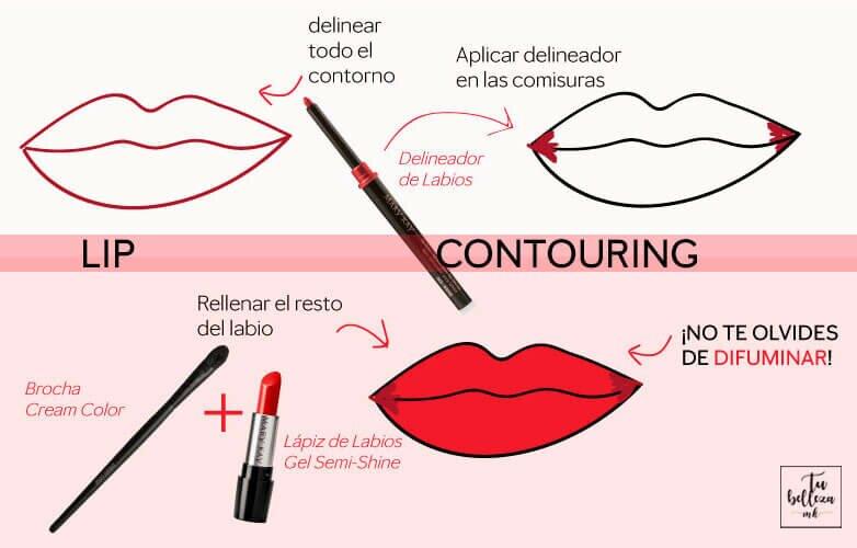 ¿Qué es el lip contouring? ¡aprende a llevar esta tendencia de labios!