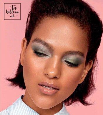 Maquillaje de ojos en tonos verdes