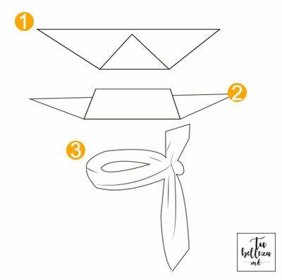 Aprende a atarte un pañuelo en el cuello