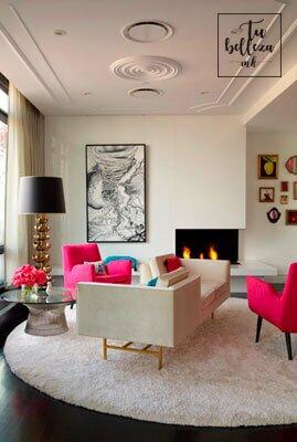 Rosa y blanco en la decoración: tendencia dulce y relajada
