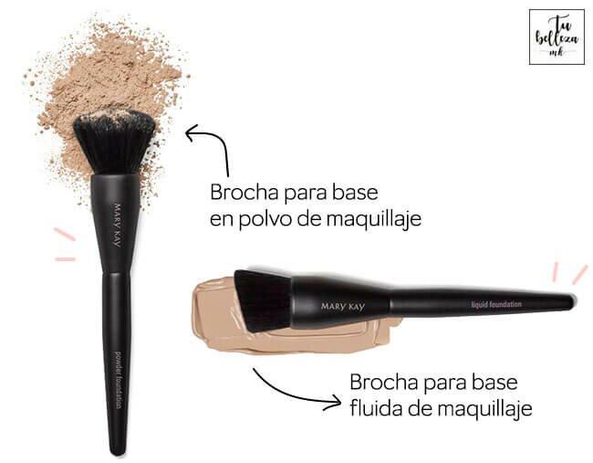 ¿Cómo son las brochas para base de maquillaje?